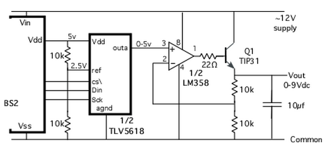 opamp voltage follower  regulator - carprog