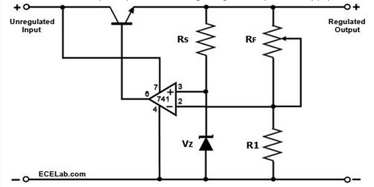 opamp voltage follower  regulator - everythinghere