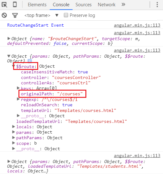 Part 39 AngularJS route change events